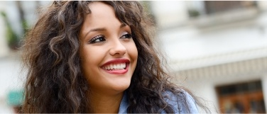 Woman sharing beautiful smile
